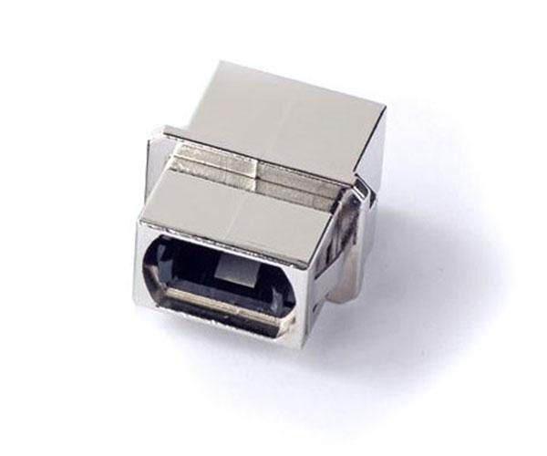 MPO adapter flangeless metal