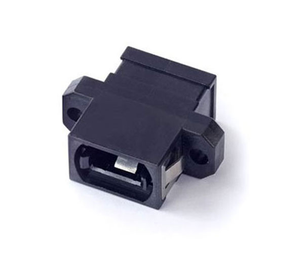 MPO adapter with flange
