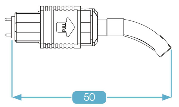 MPO Connector 45° Boot