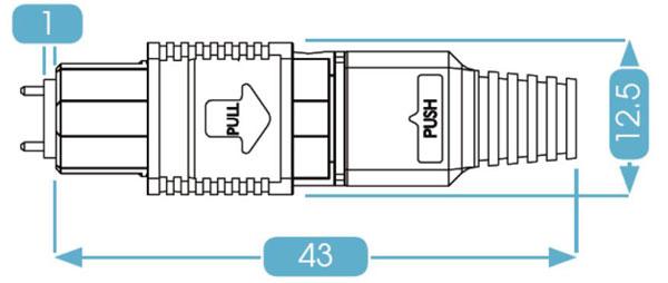 MPO Connector Bare Fiber Boot