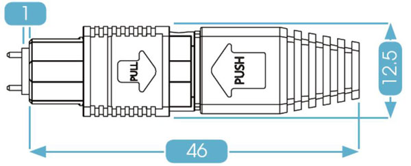 MPO Connector Flat Boot
