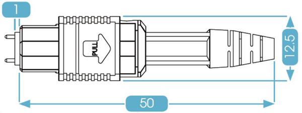 MPO Connector Round Boot