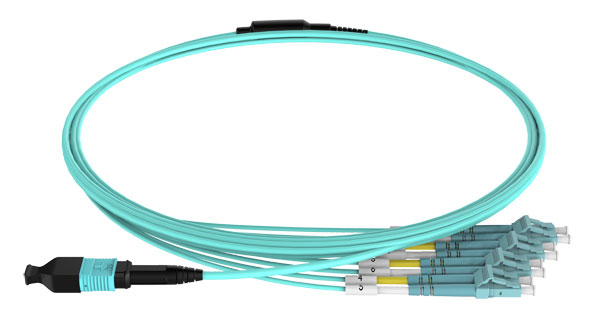 MPO to LC 8F OM3 Harness Cable
