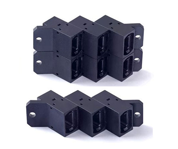 MPO stackable adapter angled type